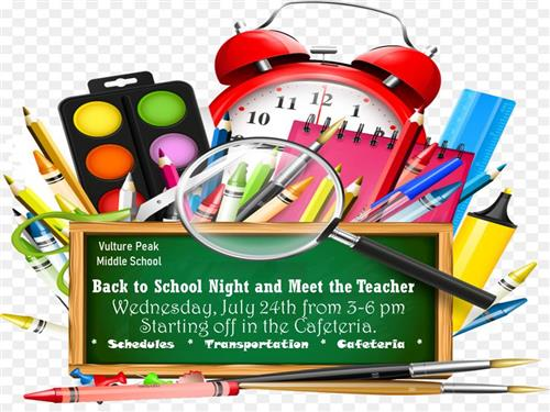July 24th Back To School Night