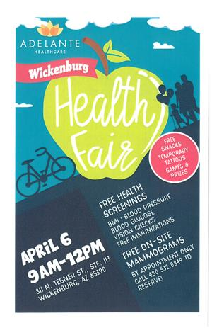 Health Fair announcement