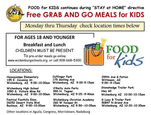 Grab and Go Food flyer